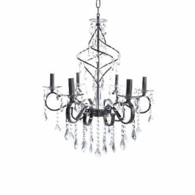 Żyrandol nowoczesny kryształowy, żyrandol wiszący srebrny, żyrandol nietypowy, lampa do salonu, LOBOS, polskie tanie lampy, lampy rzeszów
