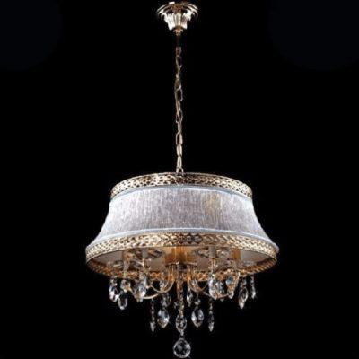 Żyrandol kryształowy wiszący nowoczesny złoty
