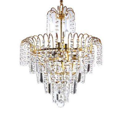 Nowoczesny żyrandol wiszący kryształowy, lampa 6 punktowa, lampa złota, polskie lampy, lampy Rzeszów, ARTI