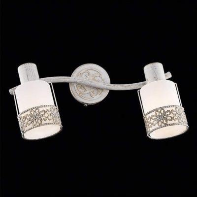 Lampa kinkiet plafon nowoczesny biało złoty LUIS