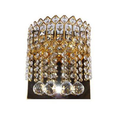 Kinkiet kryształowy złoty, duży, 2 punktowy, kinkiet glamour CORONA