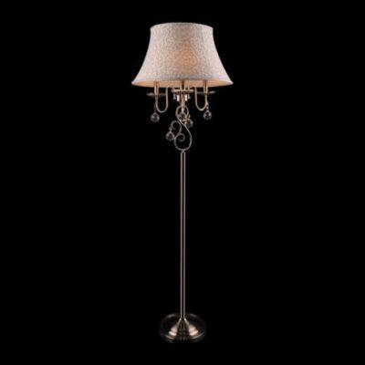 Lampa kryształowa stojąca podłogowa stare złoto