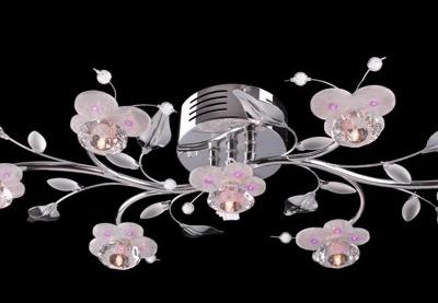 Plafon kryształowy nowoczesny LED