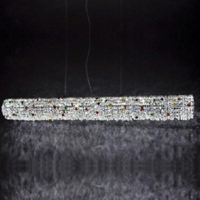 Nowoczesna lampa wisząca led kryształowa
