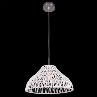Klasyczna lampa wisząca żyrandol biały