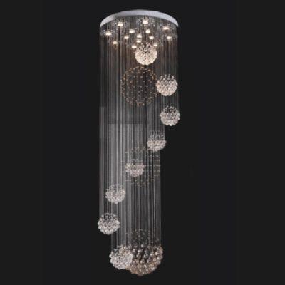 Lampa kryształowa wisząca długa 240 nowoczesna