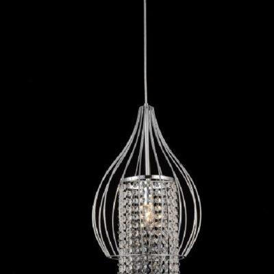 Elegancka kryształowa lampa wisząca jedno płomienna