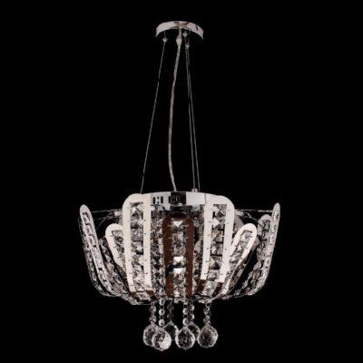 Nowoczesna lampa wisząca żyrandol chrom kryształowa