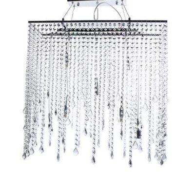 Nowoczesna lampa wisząca kryształowa, lampa kaskada, lampa cascada, polskie lampy, lampy Rzeszów