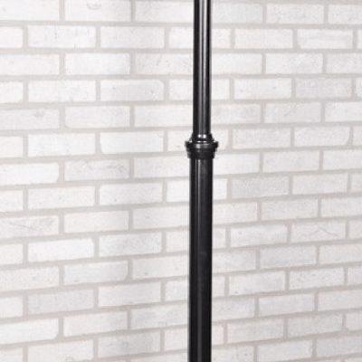 Lampa latarnia ogrodowa czarna duża okazała