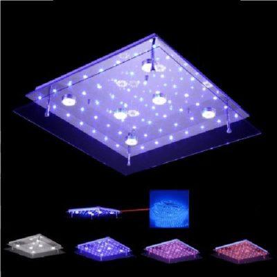 Nowoczesny plafon LED barwa ciepła zimna, kolorowe diody led, pilot ściemniacz