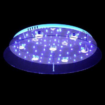 Nowoczesny plafon LED zmiana kolorów barwa ciepła zimna, kolorowe diody LED, pilot