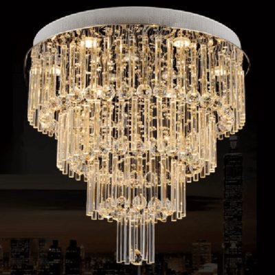 plafon wiszący kryształowy PYRAMID plafoniera żarówki LED kryształ