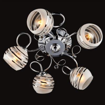Plafon klasyczny kryształowy srebrny abażury
