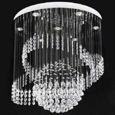 Nowoczesna lampa kryształowa wisząca kula