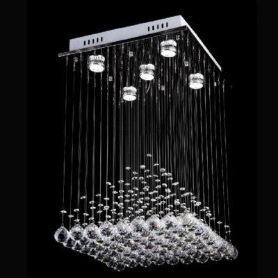 Nowoczesna kryształowa lampa wisząca plafon plafoniera salon wyspa daxi
