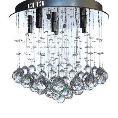 Lampa wisząca kryształowa 6 punktowa, plafon kryształowy 6 punktowy, niewielka lampa, niewielki plafon, TEKLA, polskie lampy, lampy rzeszów