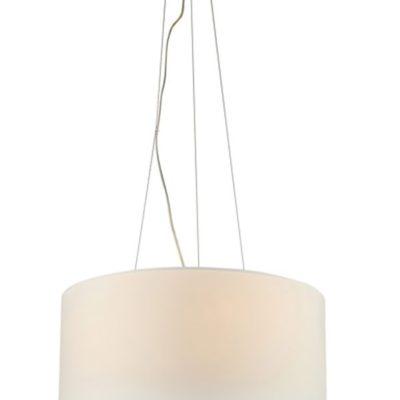 Nowoczesna lampa wisząca z abażurem duża tania biała CAFE