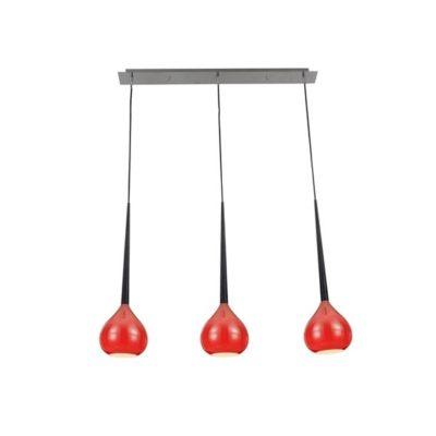 Lampa wisząca podłużna czerwona LIBRA