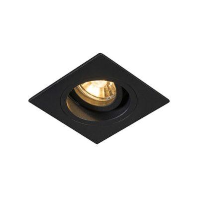 Oprawa oczko nowoczesne czarne kwadratowe CHUCK