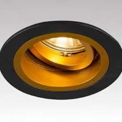 Oprawa oczko nowoczesne czarno złote CHUCK
