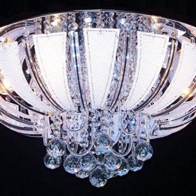 Nowoczesna kryształowa plafoniera LED P-6337 VENTI CORONA