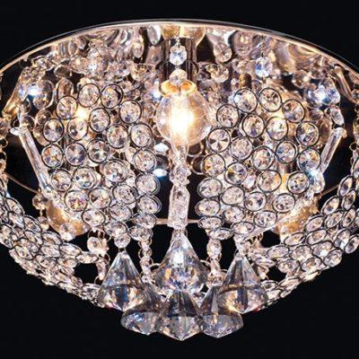 Nowoczesny plafon LED kryształowy P-S 0877/3 VENTI