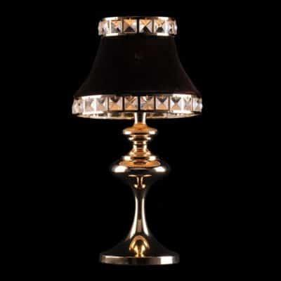 Nowoczesna lampka biurkowa nocna złota brązowa ANDREA