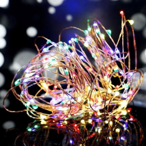 światełka dekoracyjne, gwiezdny pył kolorowe