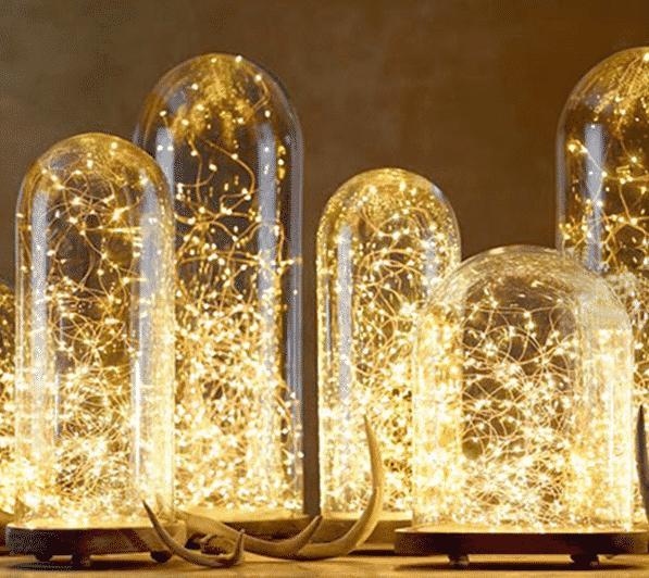 Światełka dekoracyjne, gwiezdny pył, światło białe ciepłe