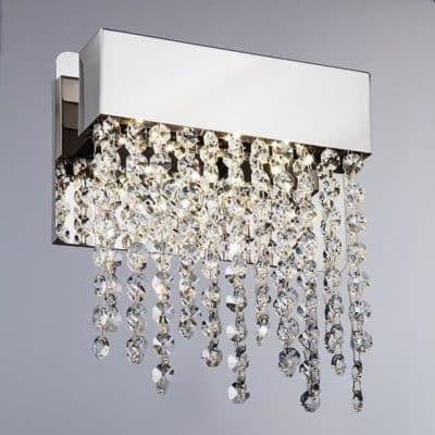Nowoczesny kinkiet kryształowy LED