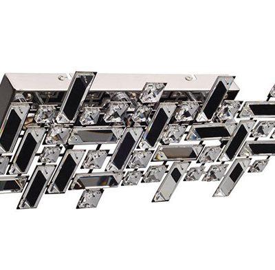 Nowoczesny plafon kinkiet kryształowy chrom