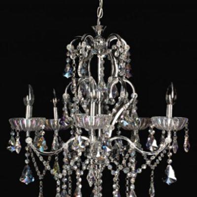 Żyrandol kryształowy wiszący Lampa Kryształowa W-11408/5 Chrom