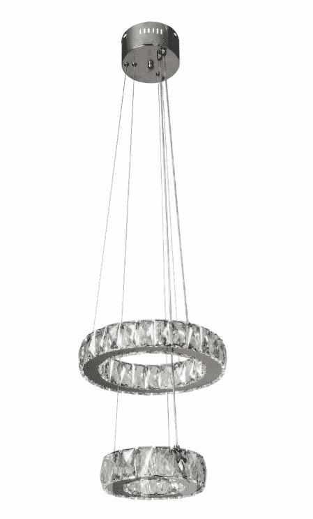 Lampa Kryształowa wisząca LED P-8003/2-300/200 Chrom