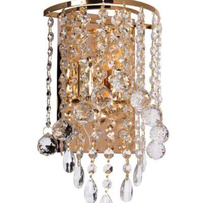 Kinkiet Kryształowy LED K-E 1346/2 Złoty GOLD