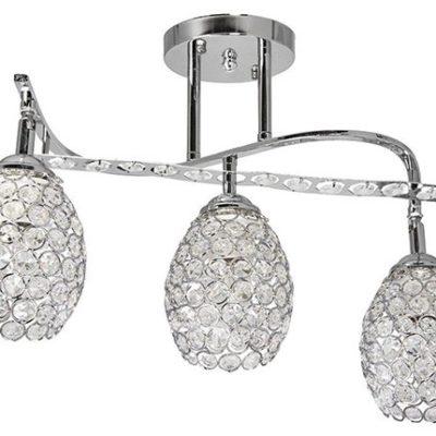 Lampa Przysufitowa W-N 0799/3 Chrom