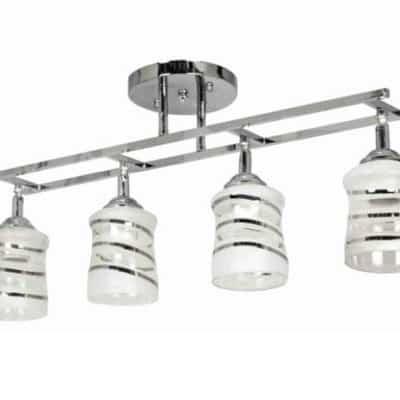 Lampa Przysufitowa W-K 1540/4 Chrom podłużna szyna