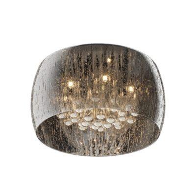 Plafon kryształowy lampa szklany klosz 5 punktowa krople wody LAMPA WEWNĘTRZNA (SUFITOWA) ZUMA LINE RAIN CEILING C0076-05L-F4K9