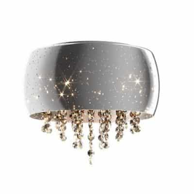 Plafon srebrny kryształowy mały 5 punktowy LAMPA WEWNĘTRZNA (SUFITOWA) ZUMA LINE VISTA CEILING C0076-05K-F4GR