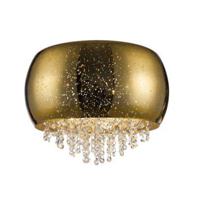Plafon nowoczesny złoty klosz 5 punktowy mały LAMPA WEWNĘTRZNA (SUFITOWA) ZUMA LINE VISTA CEILING C0076-05K-F4GQ