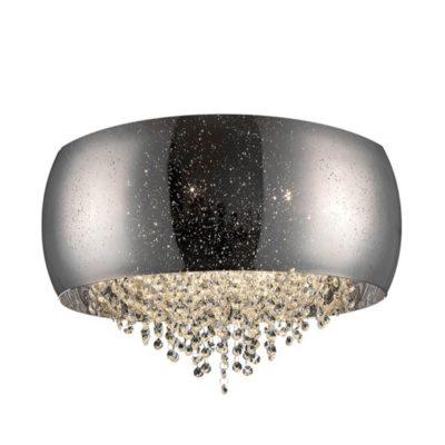 Plafon kryształowy szklany klosz srebrny 6 punktowy duży LAMPA WEWNĘTRZNA (SUFITOWA) ZUMA LINE VISTA CEILING C0076-06K-F4GR