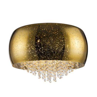 Plafon złoty kryształowy 50 cm średnica 6 punktowy LAMPA WEWNĘTRZNA (SUFITOWA) ZUMA LINE VISTA CEILING C0076-06K-F4GQ