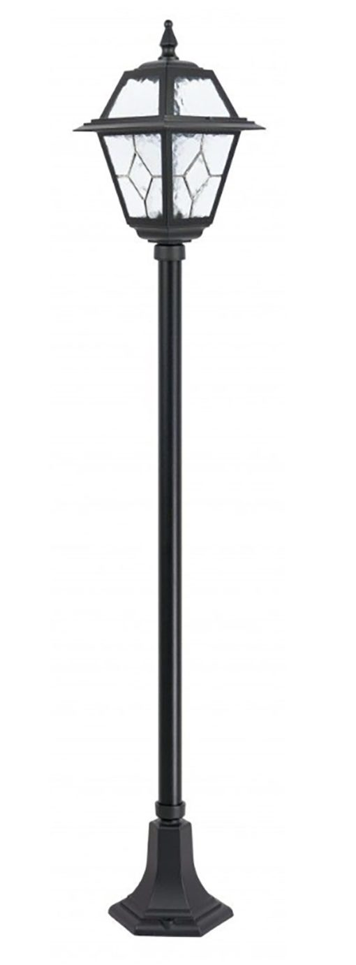 lampa stojąca ogrodowa czarna 1 punktowa witraż