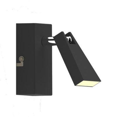 kinkiet lampa 1 punktowa czarna LAMPA WEWNĘTRZNA (SPOT) ZUMA LINE SPAZIO SPOT CK99603A-1B