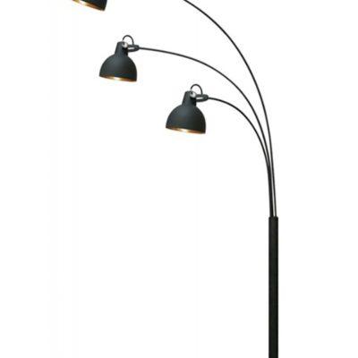 Lampa podłogowa stojąca czarna 3 punktowa 3 ramienna wysoka duża ANTENNE FLOOR TS-140123F-BKGO