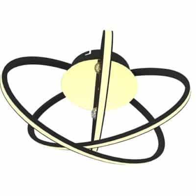 Lampa LED 26W czarna chrom ring okrągła