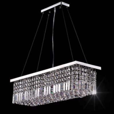 Żyrandol kryształowy wiszący duży lampa kryształowa lampa wisząca podłużna nad stół ladę wyspę