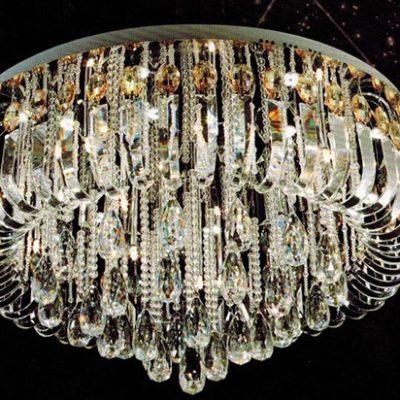 Ekskluzywna lampa plafon kryształowy duży wiszący bogaty 25 punktowy COMOSA