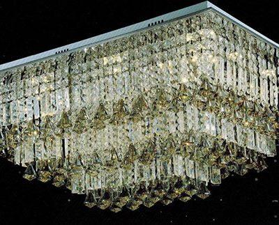 Plafon lampa sufitowa prostokątna bardzo duża ogromna lampa kryształowa ekskluzywna elegancka LEXUS XXL