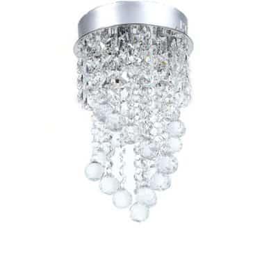 Nowoczesna lampa kryształowa wisząca plafon plafoniera mała K9 30% PbO SPIRALA